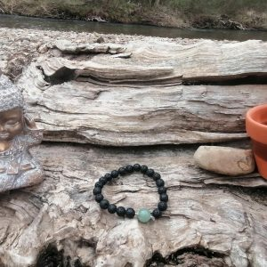 Pulsera Lava piedra preciosa natural verde
