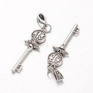 Colgante llave cadena coreana