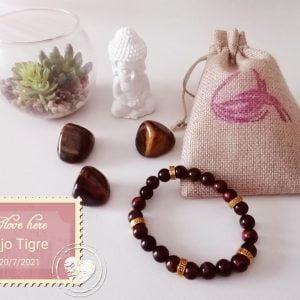 Pulsera Ojo Tigre + dorado