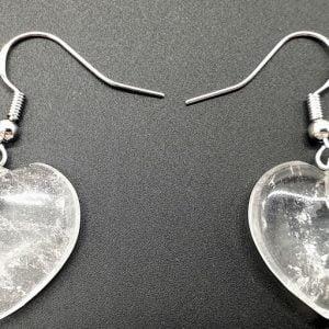 Pendientes Corazón Cristal Roca