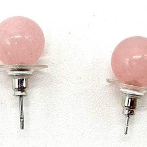 Pendientes Perla Cuarzo Rosa
