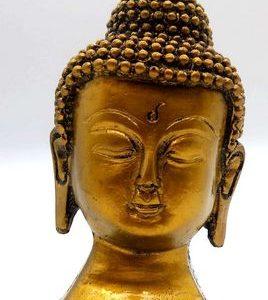Estatua busto buda dorado