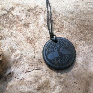 Collar Árbol de la Vida de Shungita 4cm