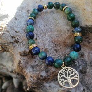 Pulsera Azurita y árbol de la vida