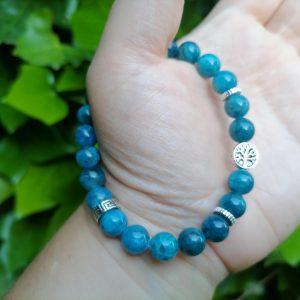 Pulsera Apatita Azul