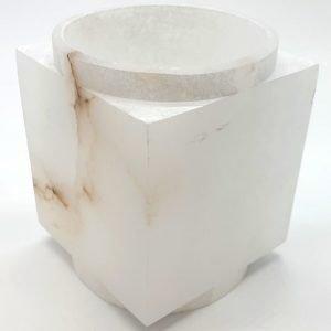 Portavelas Iluminado de Alabastro 11cm