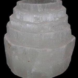 Portavelas Selenita 10cm