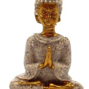 Estatua de resina de Buda tailandés gris 9cm