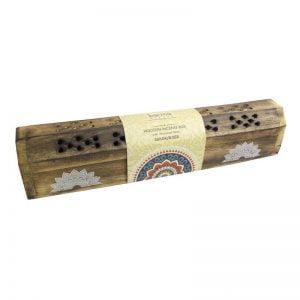 Caja madera con 10 unidades de inciensos