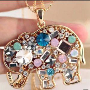Collar largo Elefante Multicolor